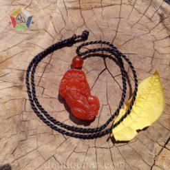 Vòng tỳ hưu đeo cổ đá mã não đỏ tại Đá quý An An