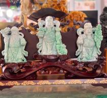 Tượng Tam Đa Phúc Lộc Thọ Ngọc Jadeite (Phỉ Thúy)