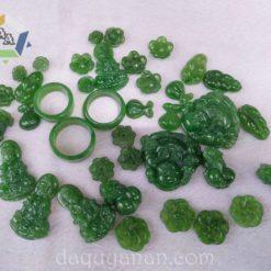 Mặt nhẫn dây chuyền ngọc bích Nephrite Jade tự nhiên