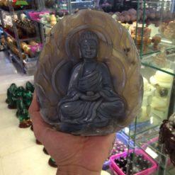 Phật Adida chất liệu mã não khoai môn