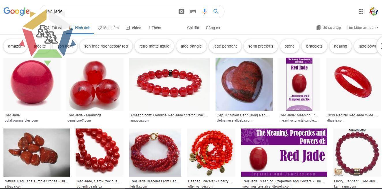 Đá cẩm thạch đen Red Jade - hình ảnh theo Google Image