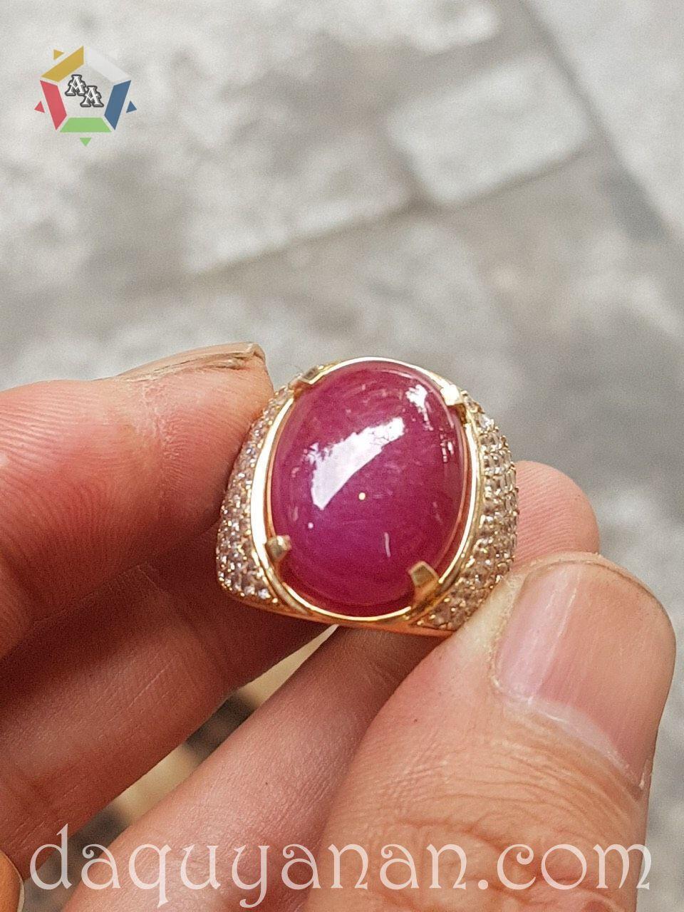 Mặt nhẫn ruby + vàng 18k cho nữ