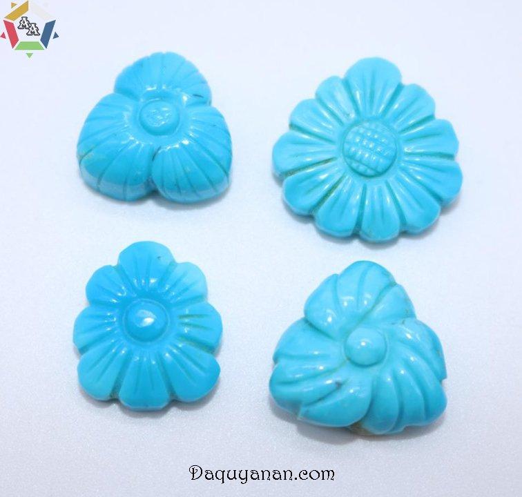 Đá ngọc lam Turquoise được chạm khắc tinh xảo