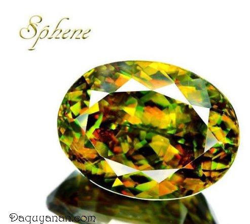 Pleochroism cực kì ấn tượng ở đá Sphene