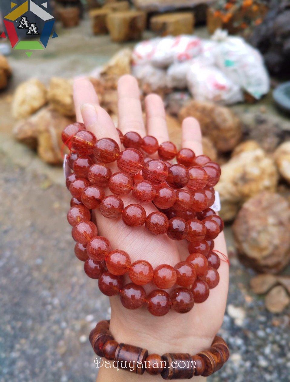 Vòng tay thạch anh tóc đỏ tại Đá quý An An